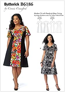 Butterick Ladies Plus Size Easy Sewing Pattern 6186 Princess Seam Dresses