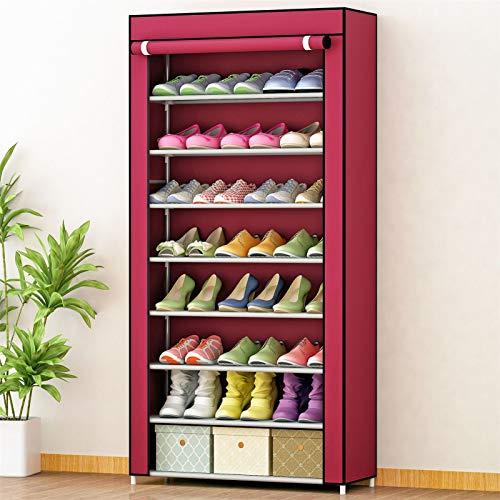 JBVG Bastidores de Zapatos Organizador de gabinete de Almacenamiento de Zapatos de Closet 8 Niveles de Zapato con Cubierta a Prueba de Polvo para la Sala de Estar en casa