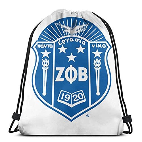 Zeta P-hi Beta - Zaino con coulisse, per sport, palestra, borsa per riporre tutti i giorni