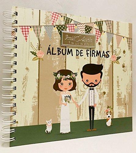 Libros de firmas para boda GRABADOS personalizados álbum de firmas GRABADO PERSONALIZADO...