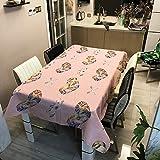 YATING Tischdecke Polyester wasserdicht verdicken Land Animal Print Tischdecke Haushalt Tischdecke ZB2122-4 140x180cm Geeignet für Küche, Esszimmer, Hof, Café, Party oder Picknick