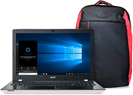 "Kit Notebook Aspire E + Mochila Nitro, Aspire E5-553G-T4TJ, AMD A10 Quad Core 9600P, 4GB RAM, HD 1TB, AMD Radeon R7 M440 com 2 GB GDDR3, tela 15.6"", Windows - Branco"