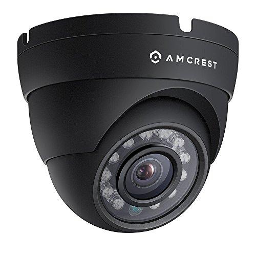 Amcrest ProHD Outdoor 1080P POE Dome IP Security Camera - IP67 Weatherproof, 1080P (1920 TVL), IP2M-844E (Black) (Renewed)