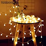 SUOER FAN 光文字列3M 6MのUSBの電球文字列防水屋外の結婚式クリスマスLEDライト文字列 (Emitting Color : 6M 40LEDS, Wattage : Warm White)