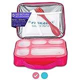 East World Lunch Box for Kids- Leak Proof Kids Lunch Box - Bento Box for Kids - With Lunch Bag, Cold...