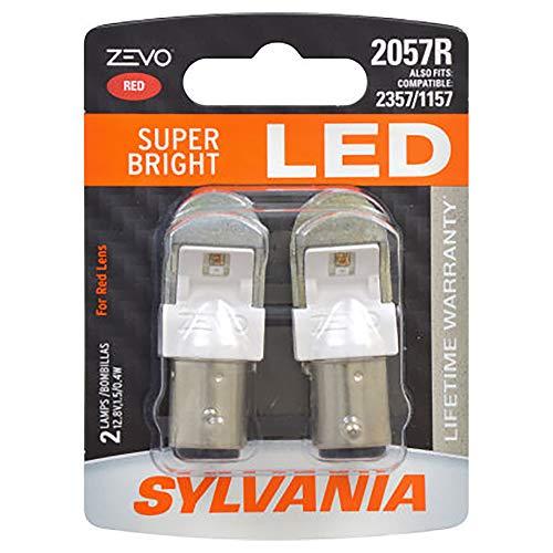SYLVANIA ZEVO 2057 Red LED Bulb, (Contains 2 Bulbs)