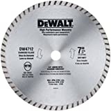 DEWALT DW4712 High Performance 7-Inch Dry/Wet Cutting Continuous Rim Diamond Saw Blade for Block and Brick