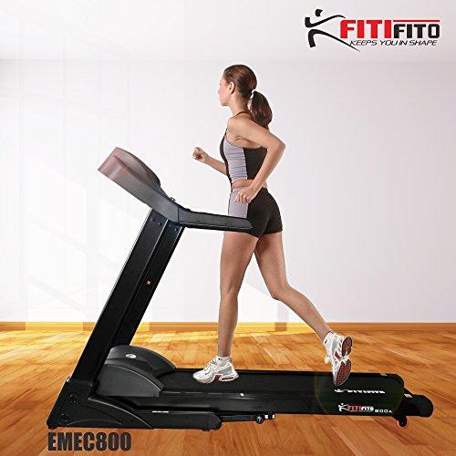 Fitifito® Laufband div. Modelle Heimtrainer Fitnessgerät 99+ Programme klappbar LED Bildschirm Dämpfung (EMEC800)