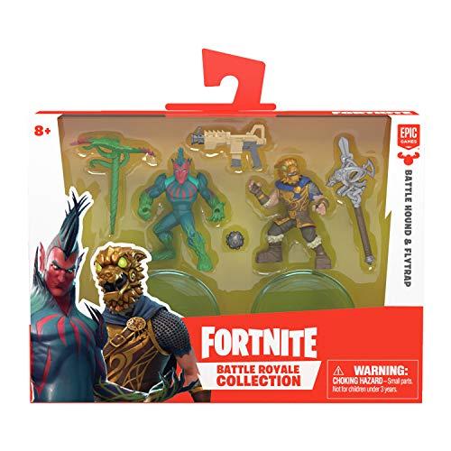 Fortnite 63538 Battle Royale Collection, Duo Figurenset Battle Hound & Flytrap, Actionfiguren aus dem beliebten Epic-Game, mit Waffen und Ständer