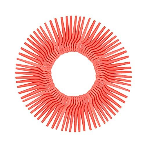 Yangtek Lot de 100 lames de rechange Longueur 83mm en Plastique Souple Orange pour Coupe Bordure Florabest FRTA IAN LIDL