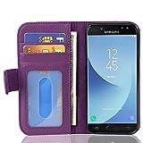Cadorabo Funda Libro para Samsung Galaxy J5 2017 en Burdeos Violeta - Cubierta Proteccíon con Cierre Magnético e 3 Tarjeteros - Etui Case Cover Carcasa