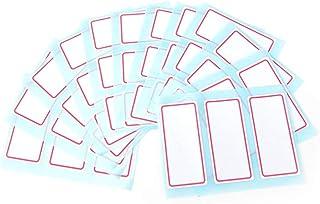 MIYU 12 ورقة / حزمة ذاتية اللصق التسمية فارغة ملاحظة شريط لاصق أبيض لاصق اسم ملصقات اللوازم المدرسية المكتبية 7.3 × 3.4 سم