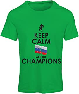 N4510F T Shirts for Women Keep Calm, Russian are The Champions