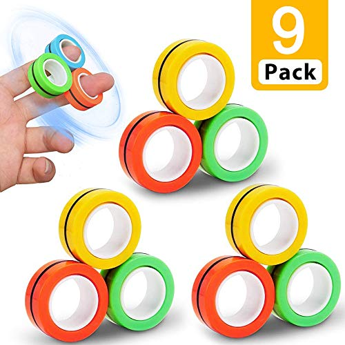 Magnetringe Anti-Stress-Fingerring,Dekompressionsspielzeug,magische Ring-Requisiten,Magnetic Ring,Magnetischer Armbandring Spielzeug,Magnetic Ring Toy,buntes Fingerspielzeug für Erwachsene und Kinder