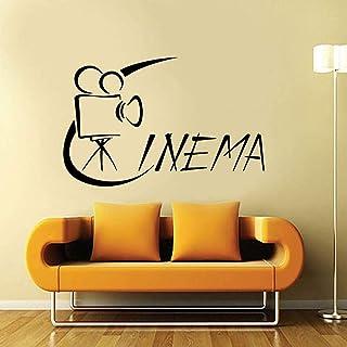 WULINCUN Wall Sticker Vinyl Decal Hollywood Cinema Movie Camera Film 57x36cm