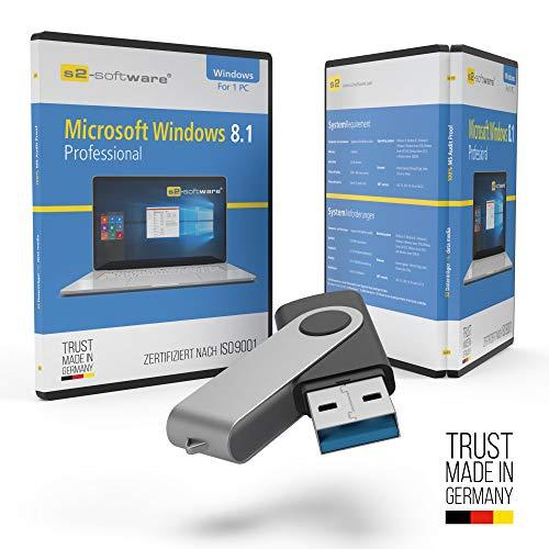 Microsoft® Windows 8.1 Professional USB Stick mit Verpackung, Unterlagen von Microsoft Lizenz Experten, Zertifikat & Lizenzschlüssel