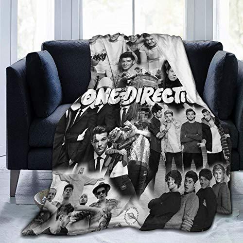 PANDASTYLE One Direction 3D weiche und warme Überwurfdecke, digital bedruckt, ultraweiche Micro-Fleece-Decke, vier Premium Flugzeug weiche Microfleece Reisedecke