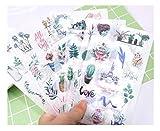 BLOUR 6 unids/Set Pegatina de Dibujos Animados para Tableta Pegatinas de Personalidad DIY Cuenta Suministros de Arte decoración Pegatina de Diario Pegatinas de Navidad Retro