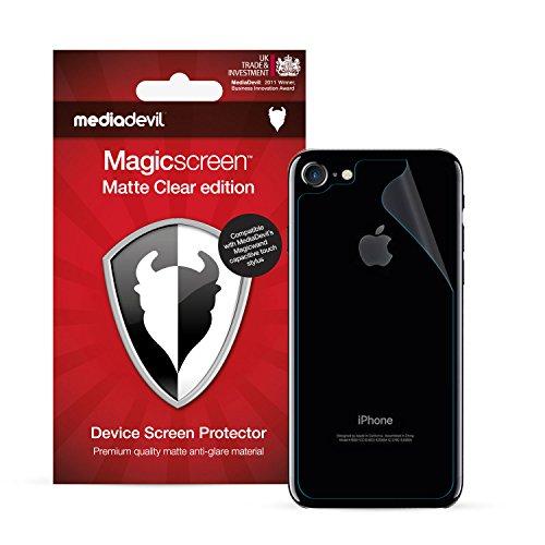 MediaDevil Pellicola Protettiva Posteriore per iPhone SE (2020), iPhone 8 e iPhone 7 : Matte Clear (Opaca, Anti-Riflesso) - (2-Pezzi)