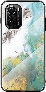 Grandcaser Case for Xiaomi 11i Ultra-thin TPU Bumper Marble Polished Granite Pattern Glass Case Never Fade Protective Cove...