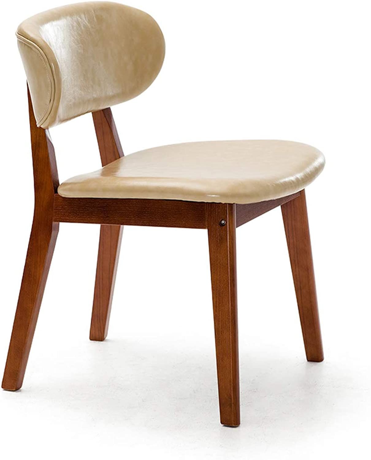 HLQW Nordic Dining Chair Household Backrest Chair Modern Simple Restaurant Leisure Chair Solid Wood Chair Creative Desk and Chair 12