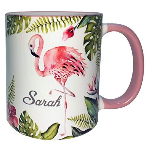 Flamingo Tasse, Namenstasse Flamingo, Tasse mit Namen, Kindertasse, Bürotasse mit Namen, Namenstasse für Mädchen, Flamingo, Namenstasse Flamingo