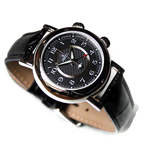 POLJOT International - Reloj despertador para hombre, mecánico, color negro