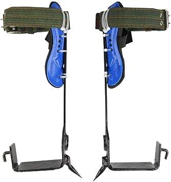 Juego Picos para Escalar árboles Espuelas Escaladores Cinturón Seguridad Cuerda cordón Ajustable para Alpinismo Rescate contra Incendios Escalada en ...