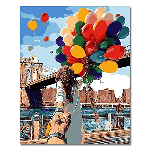 Digital Drawing Adults Painting Kits Adult painting balloon Living room shop decoration birthday gifts 40x50cm With Frame