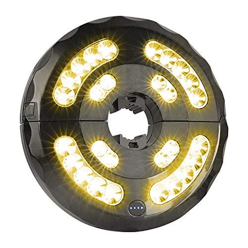 Lámpara para Sombrilla, Luz Sombrilla Exterior de Parasol con 28 Luces LED para Iluminación Nocturna para Cámping Paraguas de Playa, Jardín y Piscina (Baterías Incorporadas o Utilizar pilas AA)