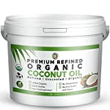 Earth Circle Organics Premium Ultra Pure UNREFINED Organic Extra Virgin Coconut Oil - Cold Pressed, Gluten-Free, Keto & Paleo Friendly - Organic Pure Coconut Oil For Skin & Hair Care, Cooking, Baking and More - 1 Gallon