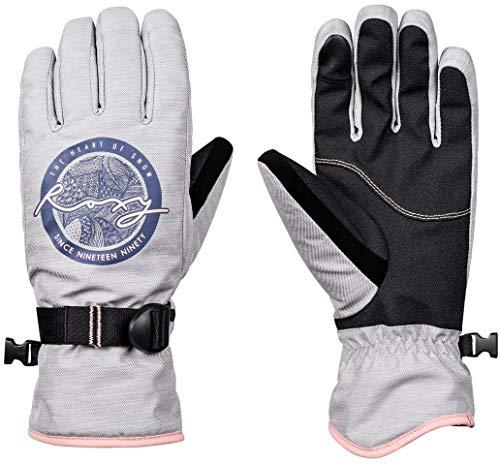 Roxy Womens Freshfield - Snowboard/Ski Gloves - Women - L - Grey Warm Heather Grey L