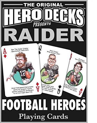 HeroDecks Football Playing Cards for Oakland Raiders Fans