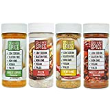 Seasoning Variety Pack, Gluten-Free, Vegan, Paleo, Non-GMO, No Preservatives, No Fillers, and No Artificial Flavoring (Garlic Lovers, Everything, Sweet & Savory, Pizza)