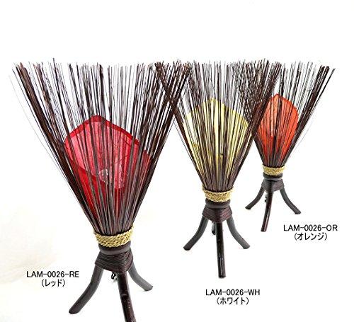 MANJA『アジアンランプ照明フロアスタンドバンブーコーン型(LAM-0026-OR)』
