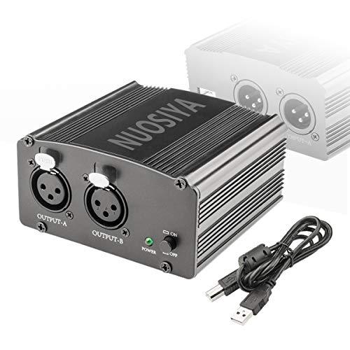 Phantom Power Supply, NUOSIYA 2-Channel 48V Phantom Power Supply,...