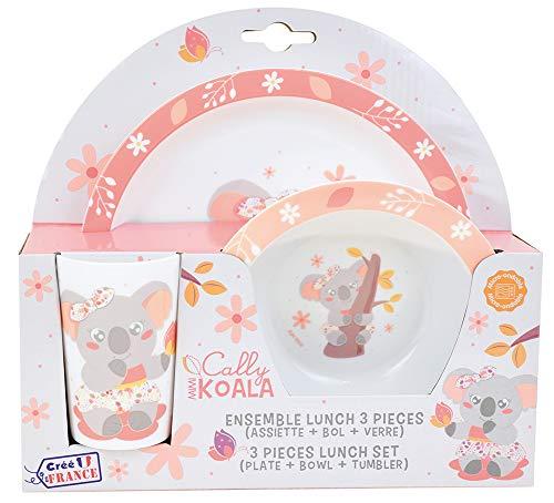 Fun House 005803 MIMI KOALA - Set pasto composto da piatto, ciotola e bicchiere per bambini