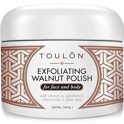 Exfoliating Face Scrub - Exfoliate Scrub - Natural Walnut Scrub Exfoliator for Face & Body. Best Body Scrub Exfoliator for Men and Women. Facial Exfoliant. Acne Blackhead Treatment