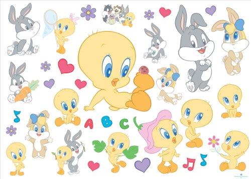 Looney Tunes Baby 000153 - Wandsticker, 50 x 18 cm, 35 Stück