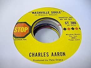 CHARLES AARON 45 RPM Nashville Soule / Son of a Cajun Queen