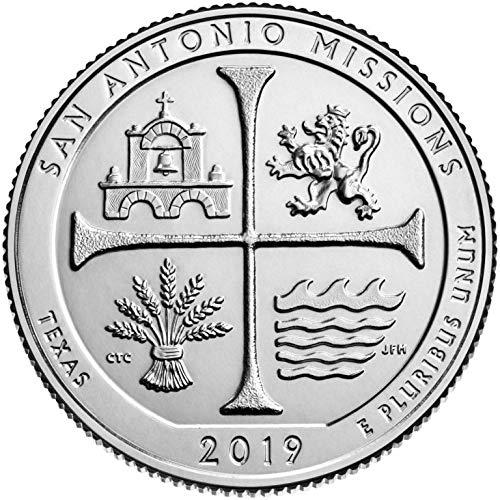 2019 D Bankroll of 40 – San Antonio Missions National Historical Park, Texas Quarter Uncirculated