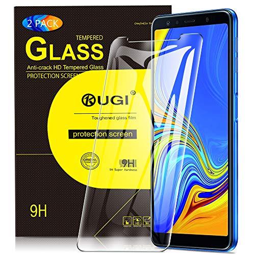 Samsung Galaxy A7 2018 Schutzfolie, KuGi 9H Panzerglasfolie Bildschirm Schutzfolie Bildschirmschutzfolie Bildschirmschutz Für for Samsung SM-A750FZBUDBT Galaxy A7 2018 15,36 (6 Zoll) smartphone. Klar [2 PACK]