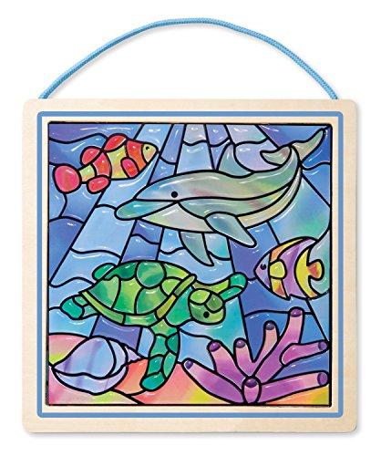 Melissa & Doug - 18582 - Vitraux Devenus Un Jeu D'Enfant • Océan - Multicolore