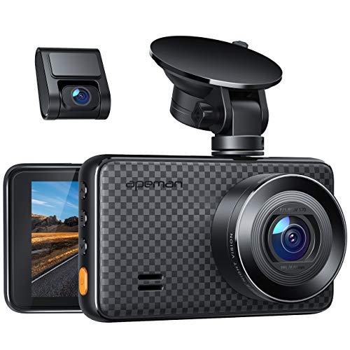 APEMAN 2K&1080P Dashcam Vorne und Hinten, Maximal 1520P, 128 GB Unterstützung, 170° Dashcam Autokamera mit 3 Zoll IPS-Bildschirm, Nachtsicht mit IR-Sensor, Bewegungserkennung, Einpark-Monitor