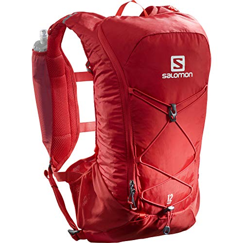 Salomon AGILE 2 SET Mochila de running ligera, 2 botellas SoftFlask 500 ml incluidas, LC1305200, 2L, Rojo (Goji Berry)
