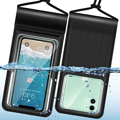 Humixx wasserdichte Handyhülle iPhone 11,Vier VERSIEGELT Wasserfeste Handytasche für Schwimmen,Tauchen,Kochen,Waterproof Phone Case hülle für iPhone SE/8/Galaxy S20/A51/Huawei P30 Pro-bis zu 6.9 Zoll