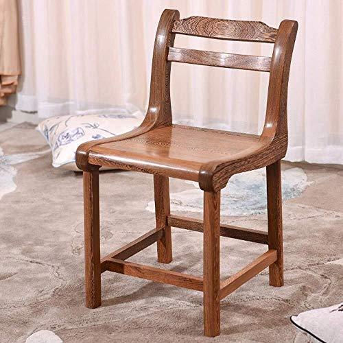 CENPEN Sillas de comedor, respaldo pequeño, silla de comedor de madera maciza, adecuado para el hogar, hotel, restaurante para restaurante (color: marrón, tamaño: 39 x 39 x 72 cm)