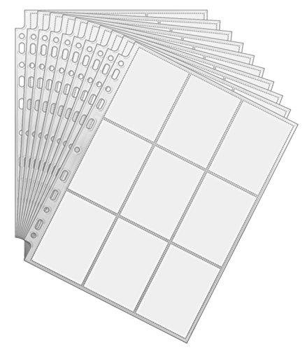Arkero-G® 450 Pockets Sammelkarten 50 Seiten Pro 9-Pocket Pages - Standard-Größe - Album Ordnerseiten für Trading Cards z.B. für Magic, Pokemon Karten