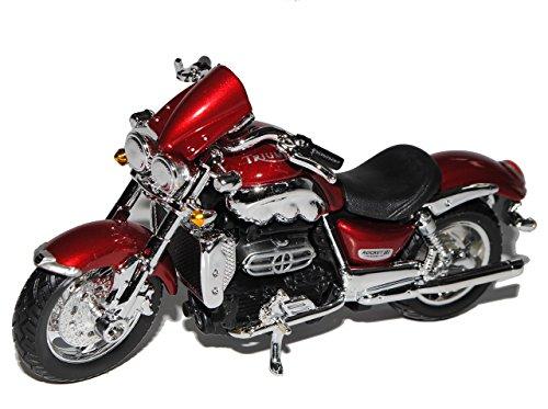 Bburago Triumph Rocket III Rot 1/18 Modell Motorrad mit individiuellem Wunschkennzeichen