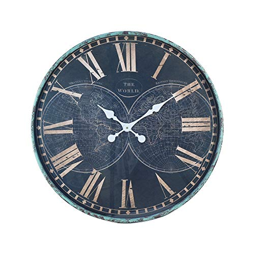 Horloge Murale Vintage Mapamundi Metal 60 cm